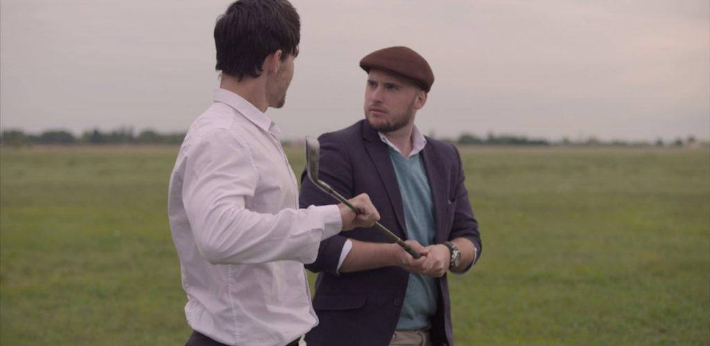 Golfschläger teilen...